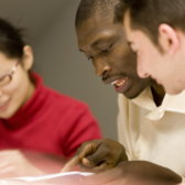 German course for foreign students of the International Office with Asian and African students